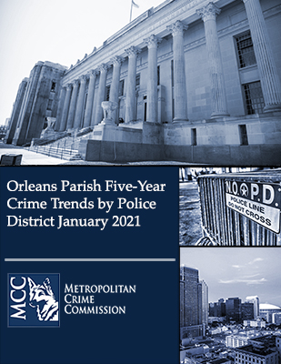 Orleans Parish Five-Year Crime Trends by Police District January 2021